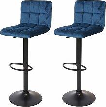 2x Tabouret de bar HHG-232, chaise bar/comptoir,