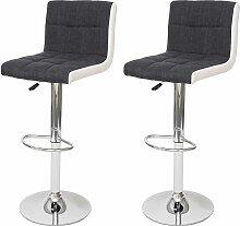 2x Tabouret de bar HHG-232, chaise bar, réglable