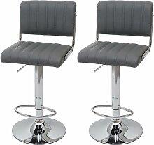 2x tabouret de bar HHG-266, chaise de comptoir