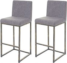 2x tabouret de bar HHG-670, chaise bar/comptoir