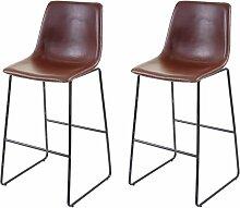 2x tabouret de bar HHG-953, chaise de
