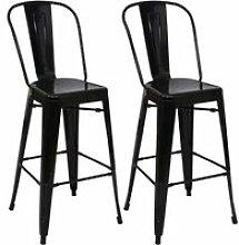 2x tabouret de bar hwc-a73, chaise de comptoir