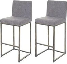 2x tabouret de bar hwc-e71, chaise bar/comptoir