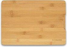 3 Claveles 04665 Planche à découper en bambou