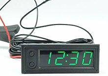 3 en 1 Horloges de voiture, LED Horloge
