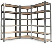 3 étagères de rangement polyvalentes en métal