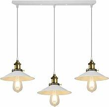 3 Lampes Lustre Industriel Vintage Suspension