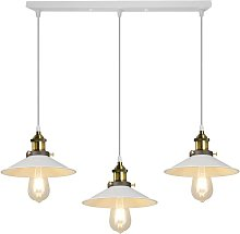 3 Lampes Lustre Industriel Vintage Suspension
