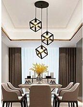 3 Lampes Suspension Luminaire Industrielle Lustre