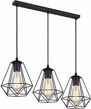 3 Lampes Suspension Vintage, 20cm Lustre