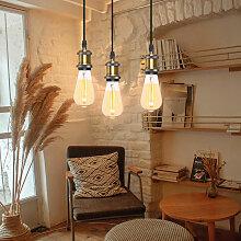 3 Lumières Lustre Suspension E27 pour Chambre