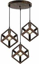 3 Lumières Suspension Luminaire Industrielle