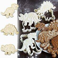 3 moules à biscuits en forme de dinosaure, 3D,