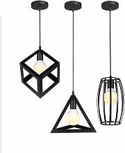 3 Pack Lustre Suspension Cage Lampe Moderne E27
