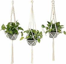 3 Pcs Suspension Plante Macramé,Pots de Fleurs en