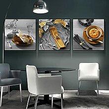 3 pièces peinture toile peinture murale, table de