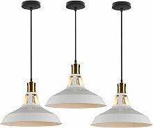 3 Rétro luminaires suspensions vintage Ø27
