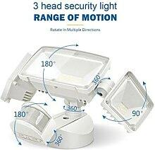 3 têtes lumineuses de sécurité avec détecteur