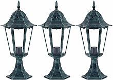 3 x lampadaire extérieur jardin terrasse