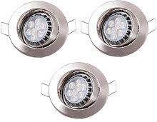 3 x spot DEL luminaire éclairage encastré LED 8
