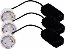 3 x spot DEL luminaire intérieur éclairage lampe