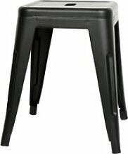 3 x tabourets bas hombuy en fer métallique noir
