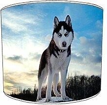 30,5cm plafond siberian husky print abat-jour 2