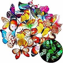 30 Pièces Papillons de Coloré ,décoration
