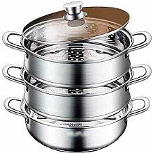 304 en acier inoxydable Steamer/marmite à soupe 3