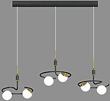 30W Moderne Dimmable Noir Pendentif Lampe LED