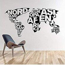 30X57Cmètres carte du monde vinyle stickers