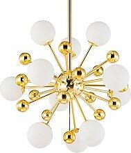 33W lampe suspension salon LED lustre boule verre