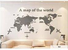 3D Carte du monde Sticker Muraux imperméable