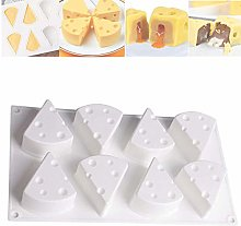 3D Cheese Shape Silicone Mousse Mold, French