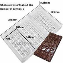 3D Chocolat Moules Polycarbonate Épais pour le