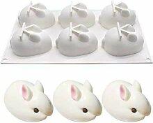 3D Easter Bunny 6 Cavity Bunny Cake Chocolate