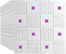 3D Imitation Brique Blanc Stickers Muraux, Papier