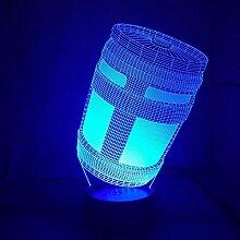 3d jeu chug gug Illusion lampe de lumière de nuit