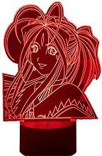3D Led Illusion Lampe Veilleuse Usb Anime Rgb