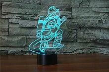 3d Pompier Illusion lampe de lumière de nuit 7