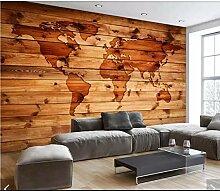 3D rétro carte du monde papier peint Mural et