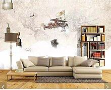 3D rétro carte du monde papier peint Mural