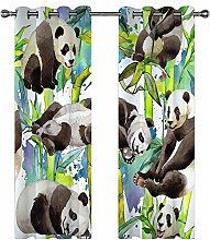 3D Rideaux Occultants Imprimés Bambou Panda