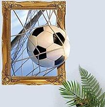 3D Score Un But Football Stickers Muraux Salon