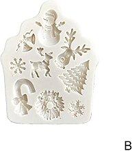 3D Silicone de Noël Fondant Fondant Moule de