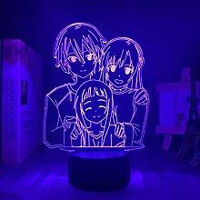 3D Touch Anime Led Illusion lumière épée Art en