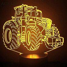 3d Tracteur Camion Automobile Illusion lampe de