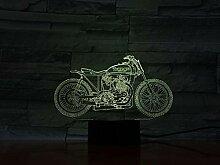 3D Veilleuse Moto 3D Lampe De Poche Lampe De Table