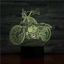 3D Veilleuse Moto 3D Lampe De Table Lampe De Poche