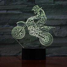 3D Veilleuse Moto 3D Lampe Led Ampoule Lampe De